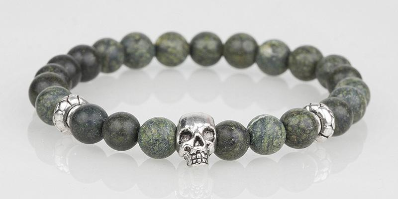 Iconbracelets Dark Green skull