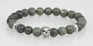Iconbracelets Dark Green skull 8MM Icon Bracelets