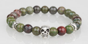 Iconbracelets Kaki skull 8MM Icon Bracelets