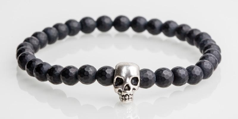 Iconbracelets Solo Skull Faced Black