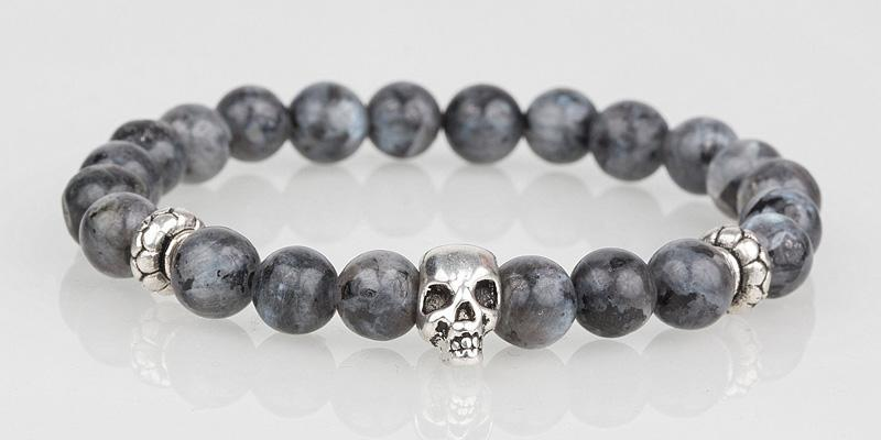 Iconbracelets Steel Gray skull