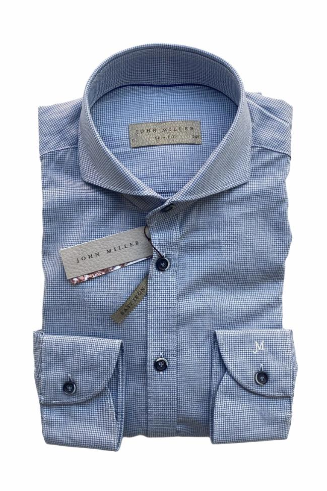 John Miller - Shirt - Light Blue Detail