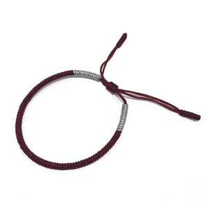 Knot Bracelet Bordeaux / Grey Other Icon