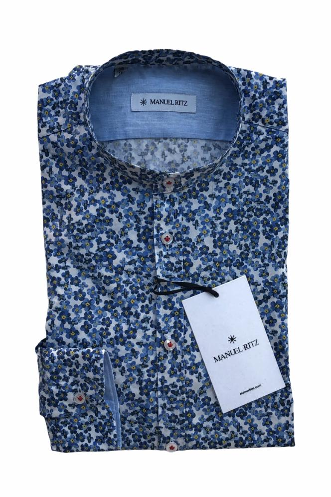 Manuel Ritz - Shirt Flower Blue / White / Yellow
