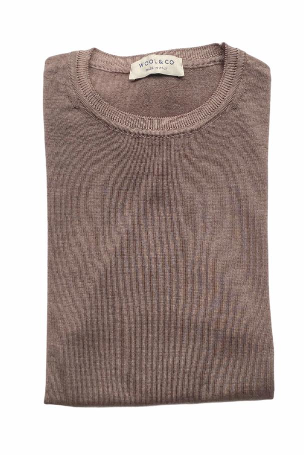 WOOL & CO - Pull Basic - Taup