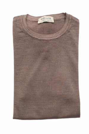 WOOL & CO - Trui Basic - Taup Truien Wool & Co