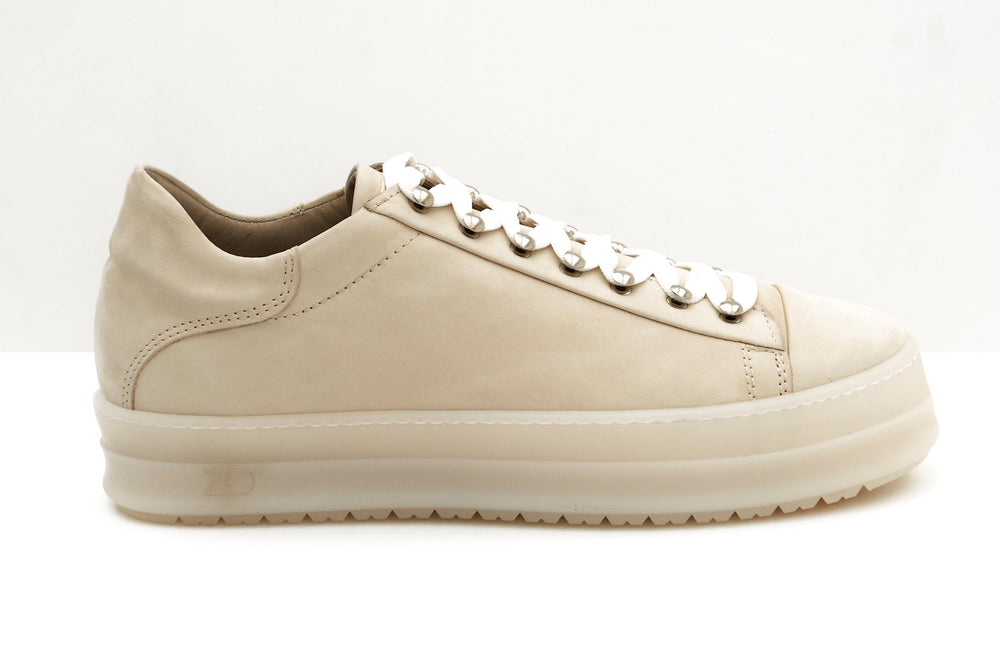 ZERO D - Icon Low Nabuck Beige Sneakers Zero D.