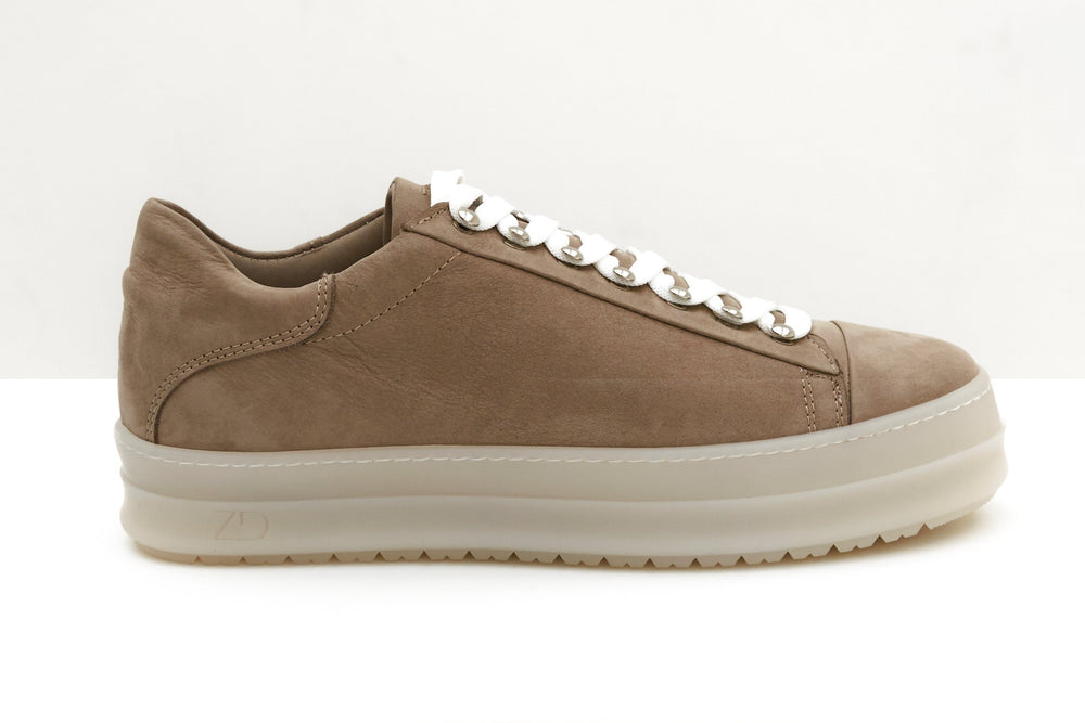 ZERO D - Icon Low Nabuck Taupe Sneakers Zero D.