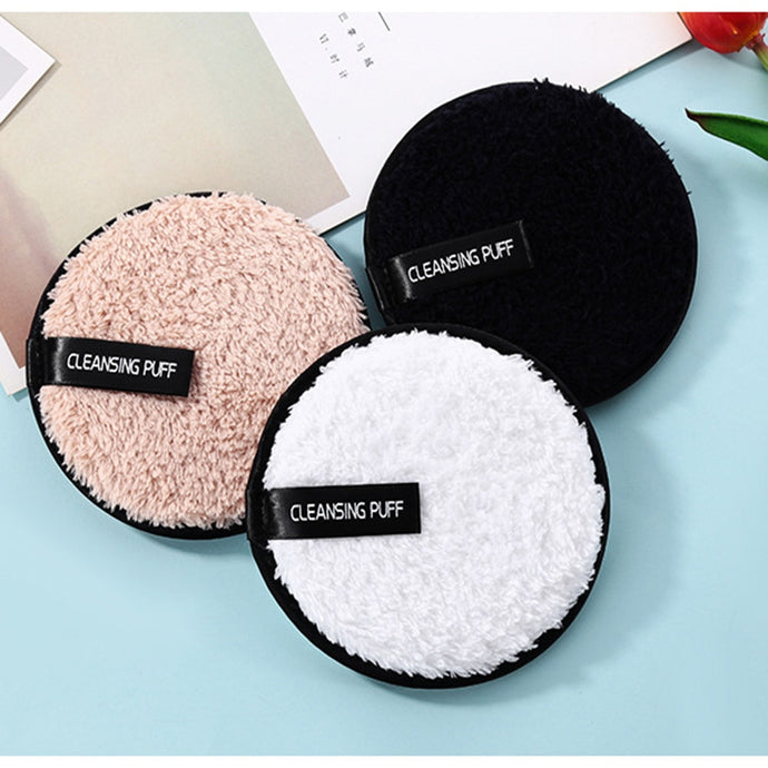 1PC Soft Microfiber Makeup Remover Towel Face Cleaner Plush Puff Reusable Cleansing Cloth Pads Foundation Face Skin Care Tools