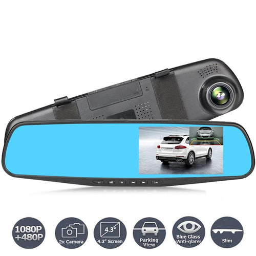 Dash Cam With Rear View Mirror
