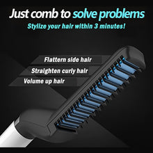 Load image into Gallery viewer, Styling Beard Straightener Comb Multifunctional Hair Curler Straightening Permed Clip Comb Styler Electric Hair Tool for Men