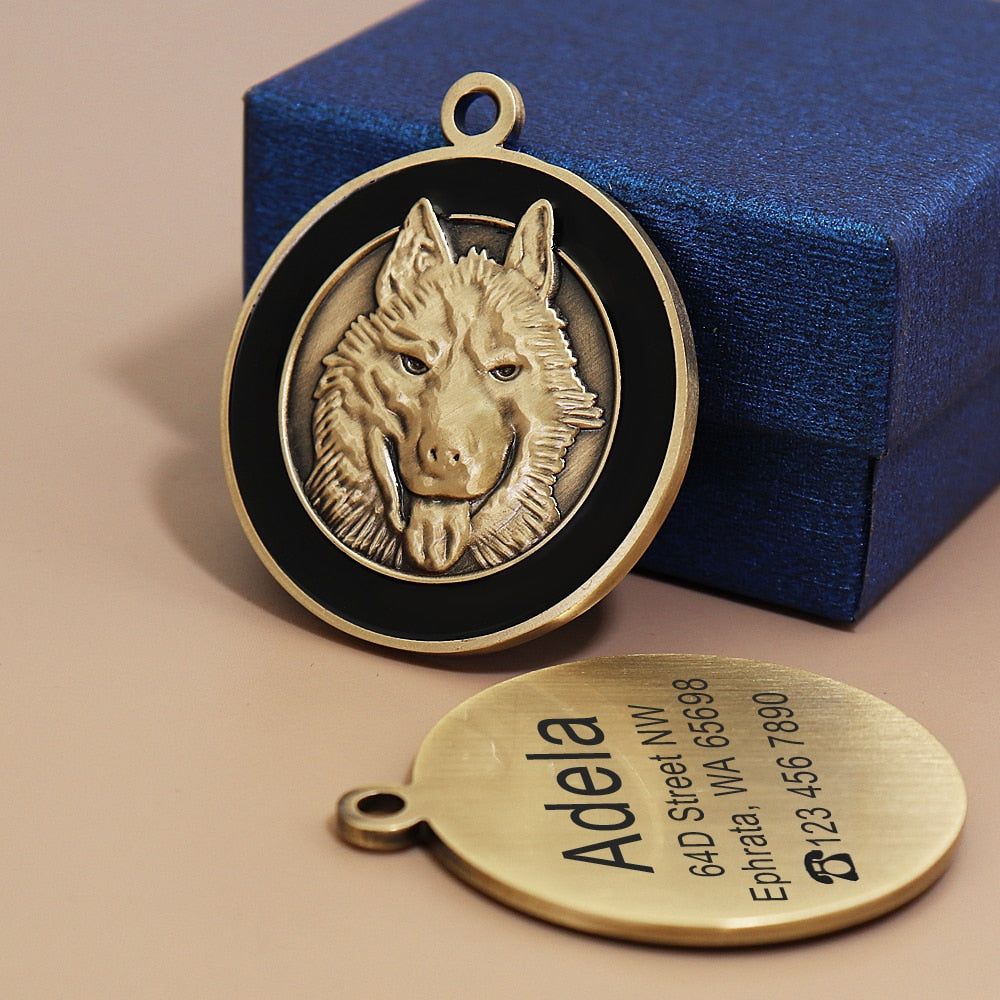 Personalized Dog ID Tag For Dogs Necklaces Pendants