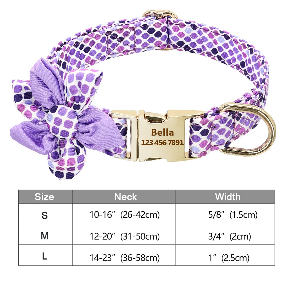 Personalized Nylon Fashion Printed Dog Collar