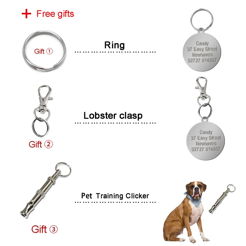 Round Paw Customized Dog ID Tag Personalized Pet Tag