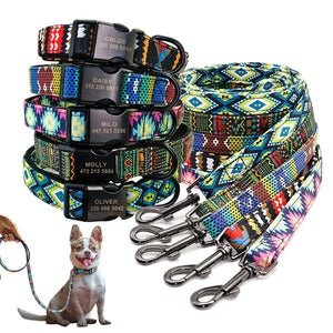 Personalzied Nylon Printed Pet Dog ID Tag Collar