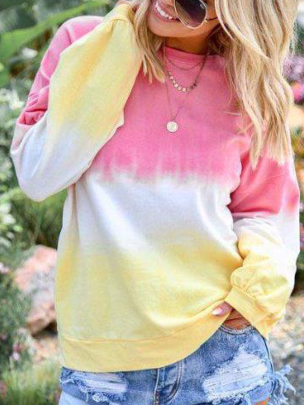 Long Sleeve Round Neck Casual Shirts