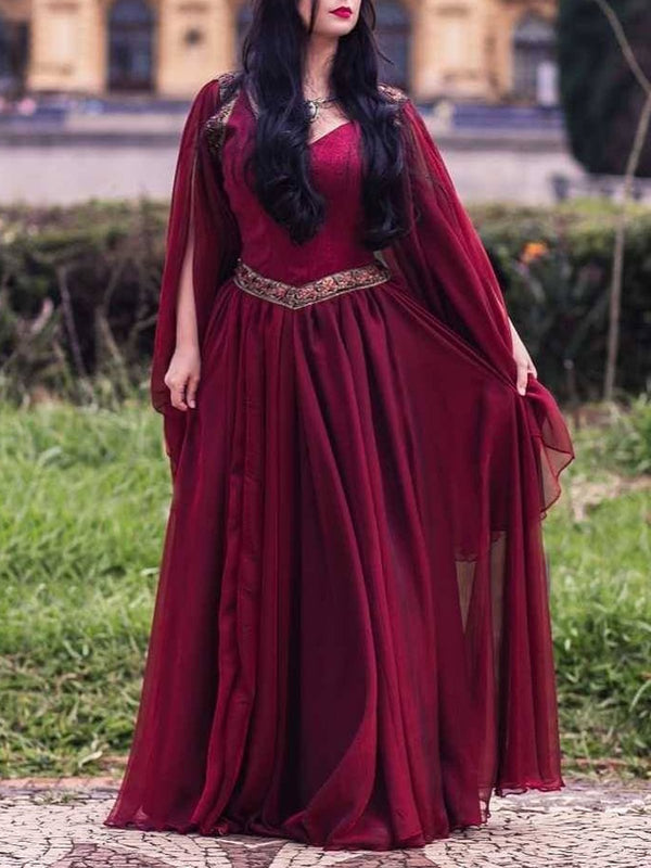 Medieval costume plus size Vintage Cotton Dresses