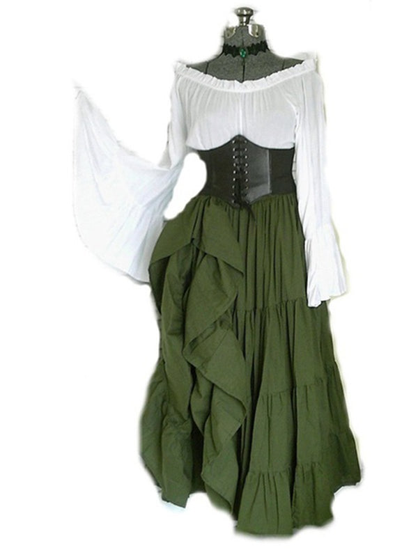 medieval Cotton Casual Vintage Dresses