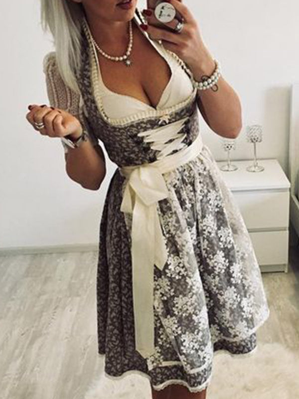 Oktoberfest dirndl plus size Vintage Cotton Dresses