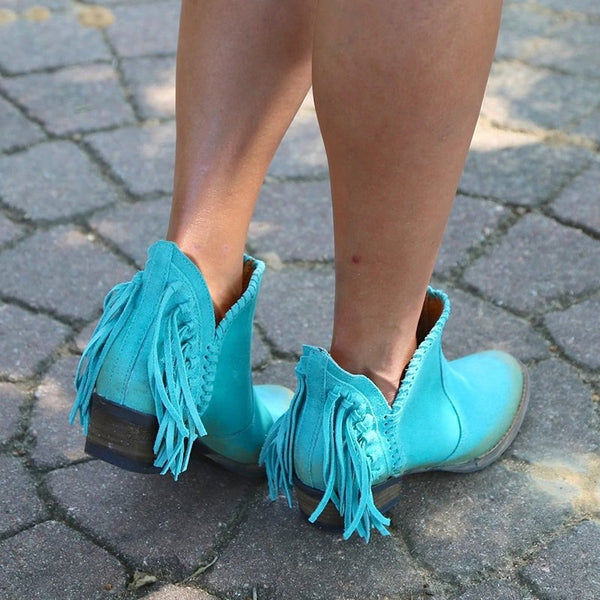 Women's Fringed Booties