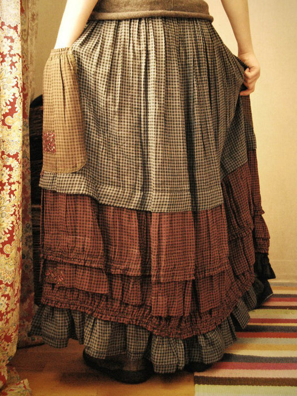 Checkered/plaid Vintage Cotton Skirts