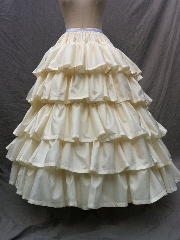 Paneled Cotton-Blend Plain Skirts