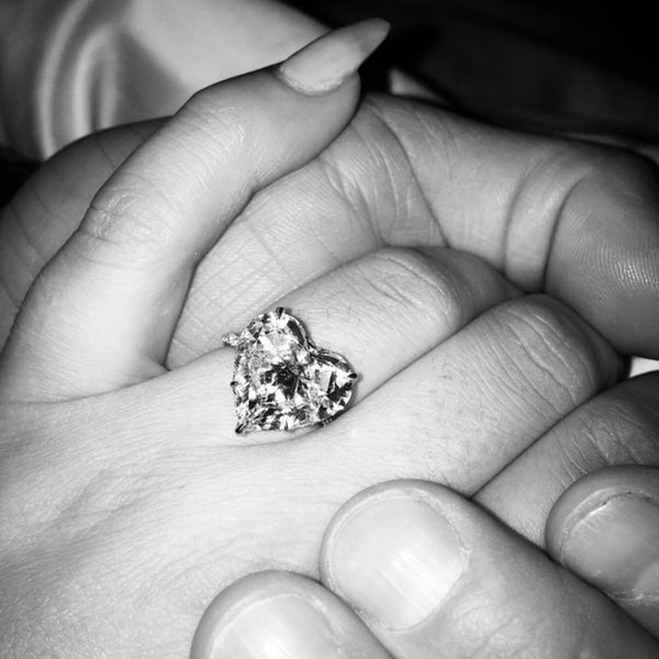 HEART SHAPE DIAMOND ENGAGEMENT RING - LADY GAGA
