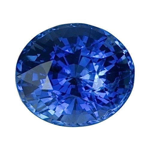 1.28 ct Oval Cornflower Blue Ceylon	Sapphire Certified Unheated