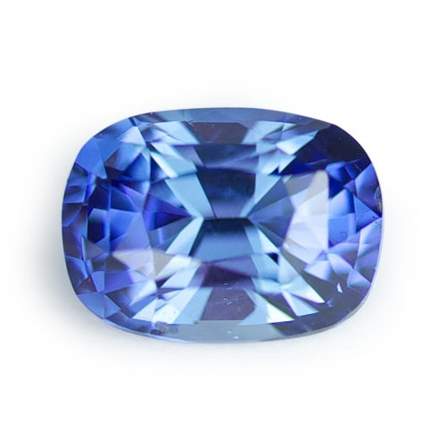 1.36 ct Medium Blue Cushion Cut Natural Unheated Sapphire