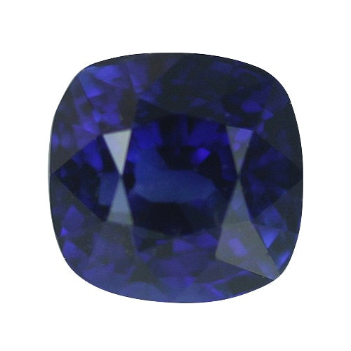 1.06 ct Royal Blue Cushion Cut Natural Unheated Sapphire