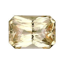 2.55 ct Vivid Apricot Champagne Radiant Cut Natural Unheated Sapphire