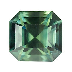 2.52 ct Blue Green Emerald Cut Natural Unheated Sapphire