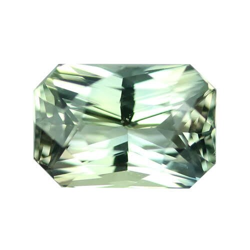 2.53 ct Olive Green Sapphire Certified Unheated
