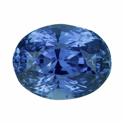 2.14 ct Oval Cornflower Blue Ceylon	Sapphire Certified Unheated