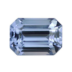 2.19 ct Steel Blue Emerald Cut Natural Unheated Sapphire