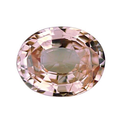 2.01 ct Natural Peach Oval Sapphire Certified Unheated