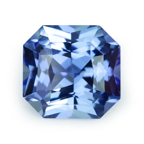 2.34 ct Blue Square Radiant Cut Natural Unheated Sapphire