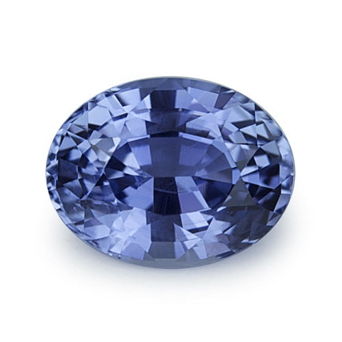 2.61 ct Lavender Blue Oval Cut Natural Unheated Sapphire
