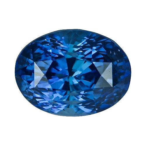 3.05 ct Oval Vivid Blue Ceylon	Sapphire Certified Unheated