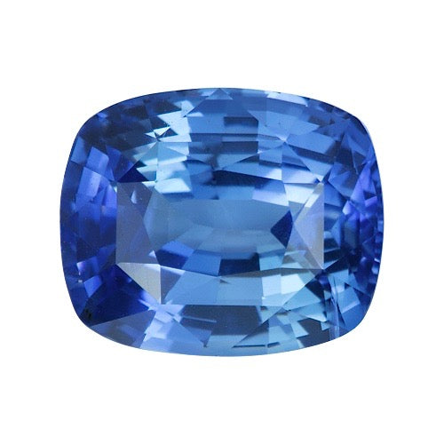 4.03 ct Cornflower Blue Cushion Cut Natural Ceylon Sapphire Certified Unheated