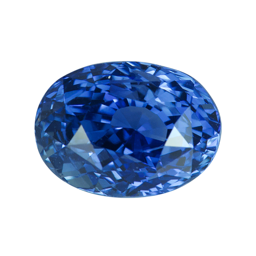 4.04 ct Oval Blue Sapphire Certified Heated