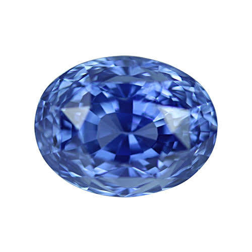 4.04 ct Cornflower Blue Oval Sapphire Certified Unheated