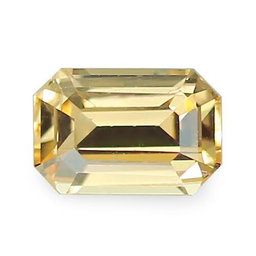 1.20 ct Apricot Yellow Emerald Cut Natural Unheated Sapphire