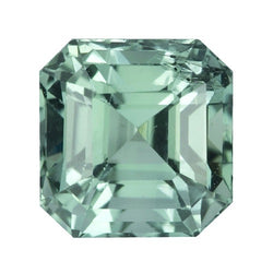 1.28 ct Emerald Cut Bluish Green Natural Unheated  Sapphire