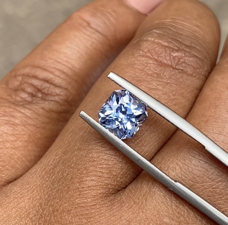 2.13 ct Radiant Cut Blue Sapphire Certified Unheated