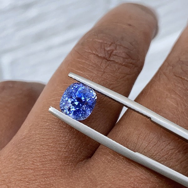 2.57 ct Cushion   Blue Sapphire Certified Unheated