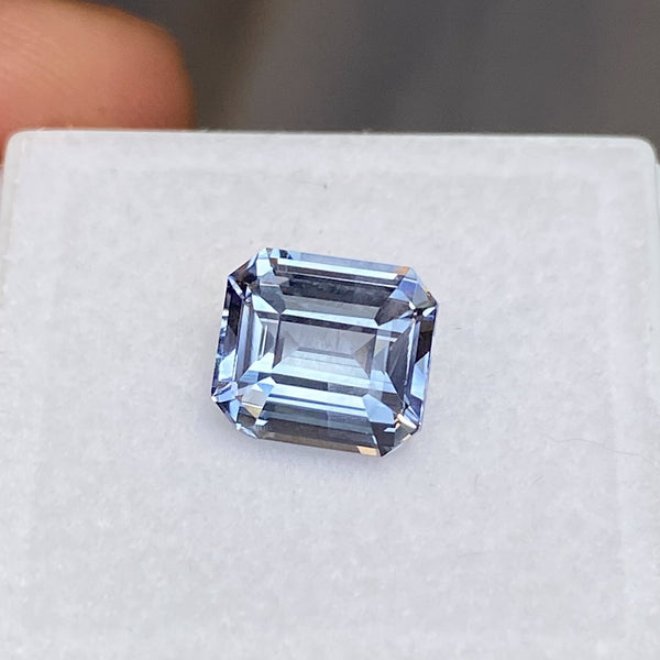 3.05 ct Emerald Cut Blue Sapphire Natural Unheated