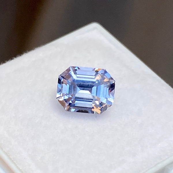 2.69 ct Emerald Cut Ceylon Blue Sapphire Natural Unheated