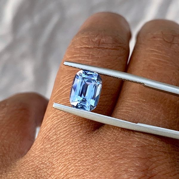 2.69 ct Cushion Sky Blue Sapphire Unheated Sri Lanka