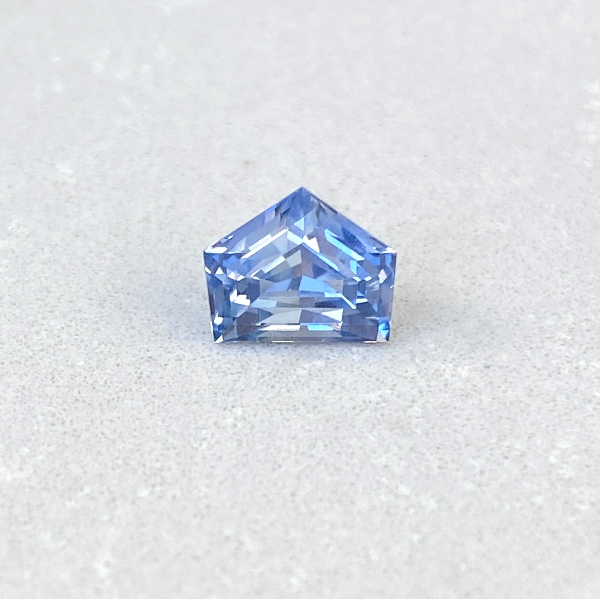 2.22 ct Sky Blue Sapphire Fancy Cut Unheated Ceylon